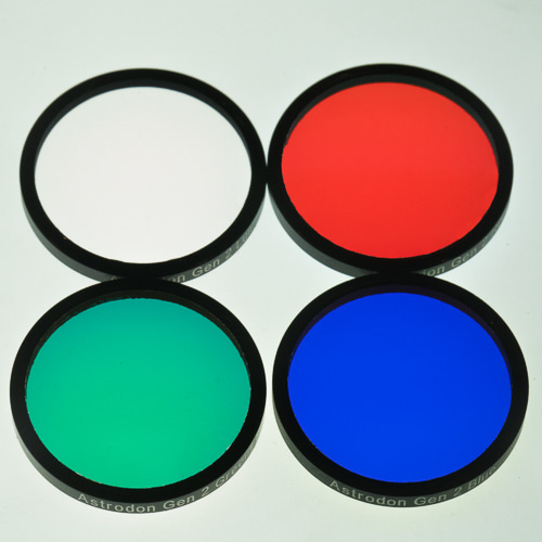 [즉시출고] Astrodon LRGB Gen2 E-Series Tru-Balance Filters (set of 4) - 50mm Diameter Unmounted
